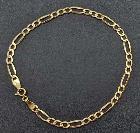Złota bransoletka FIGARO P585 2,08g 21cm LOM95