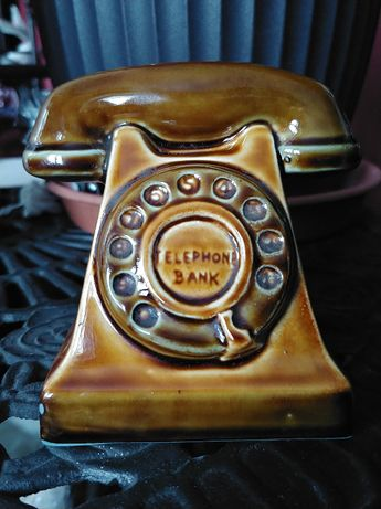 Vintage 1960 figurka skarbonka telefon studio Joseph Szeiler England