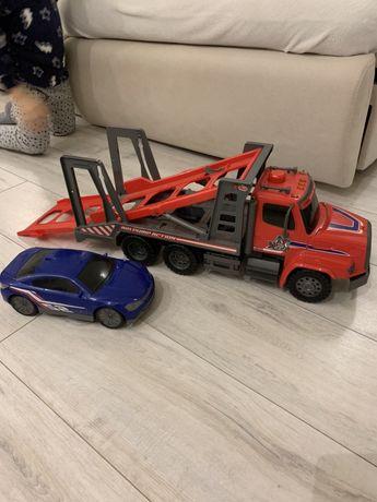 Dickie toys автотранспортер 57см с воздушной помпой