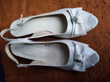 Wyprzedaż 70% obniżka-buty letnie damskie jasny beż - rozm.36