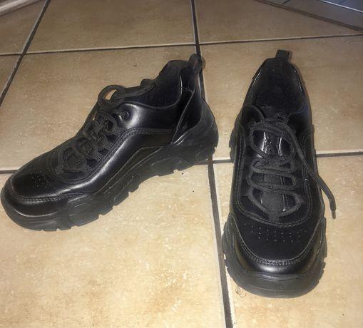 Sneakersy czarne 36