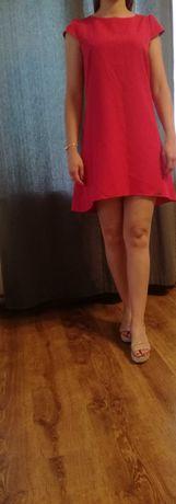Sukienka trapezowa fuksja