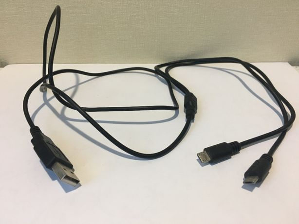 Кабель тройник USB на 2 Micro USB