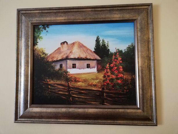 Obraz stara chata - wieś