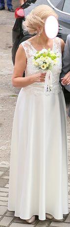 Sprzedam prześliczną suknię ślubną ecru(rozm.38-40) niższa cena