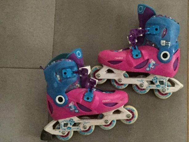 Rolki 34-36 cm Oxelo dziecięce dla dziewczynki