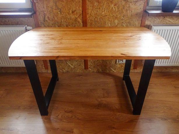 Stół Zaokrąglony Drewniany, Olcha Olejowana