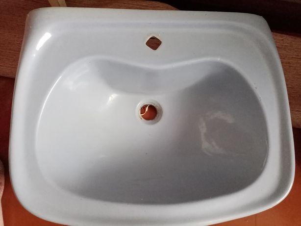 Керамическая раковина для ванной умывальник рукомойник сиреневая