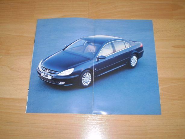 Peugeot 607 katalog prospekt