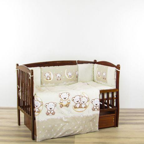 Комплект постельного в кроватку новорожденного 8 в 1, детское постельн