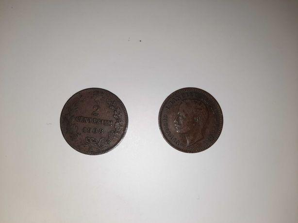 2 moedas 1908 rei vittorio emanuelle Itália