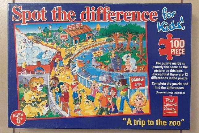 Puzzle - Wycieczka do zoo, znajdź różnice - 100 elementów