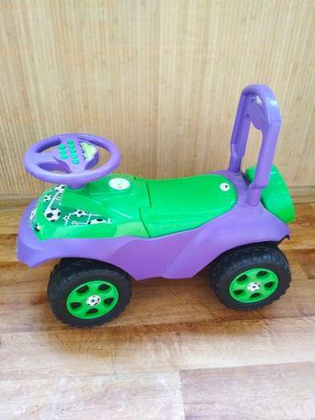 Толокар Автошка, машинка-каталка с музыкальным рулем