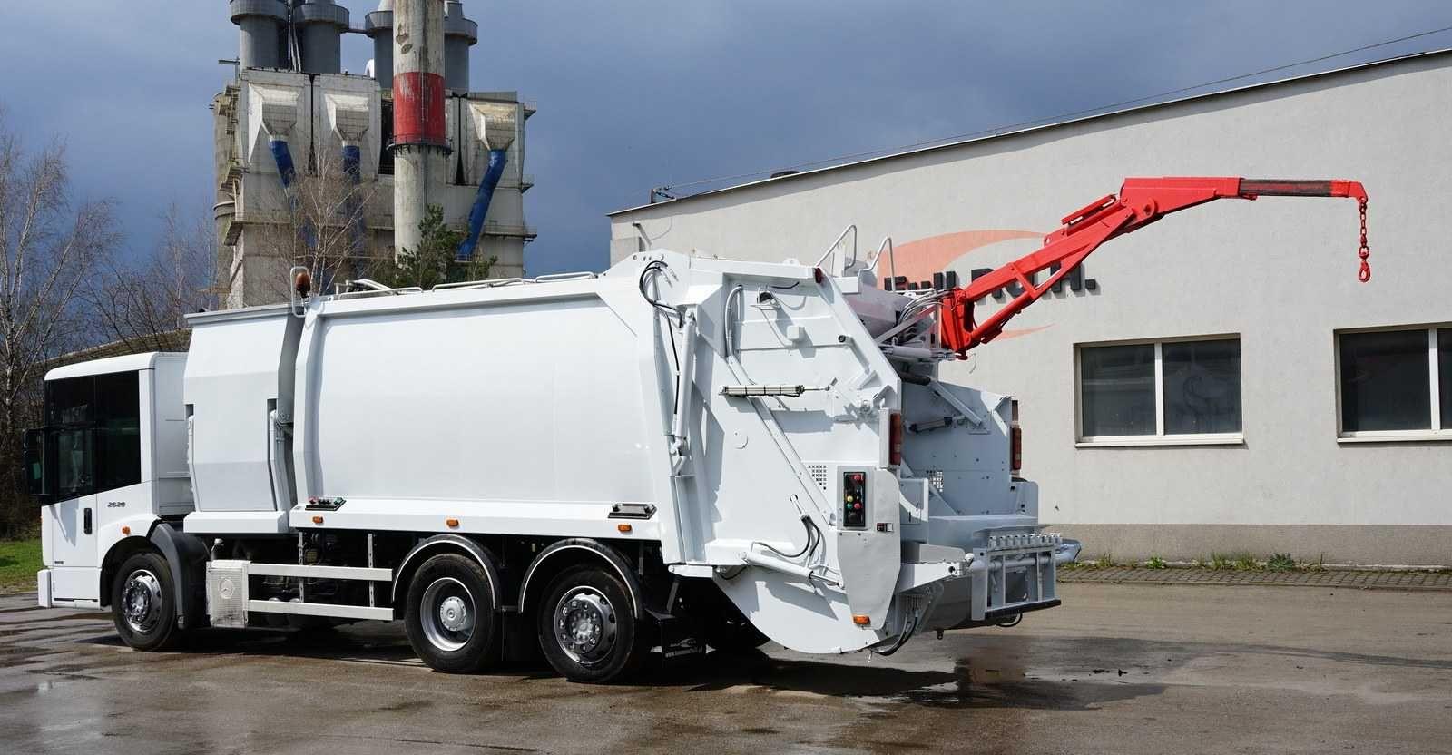 śmieciarka dwukomorowa z dźwigiem HDS EURO 5 w całości na części