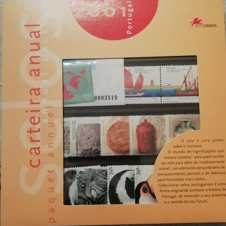 5 Carteiras Anuais de selos CTT/Continente