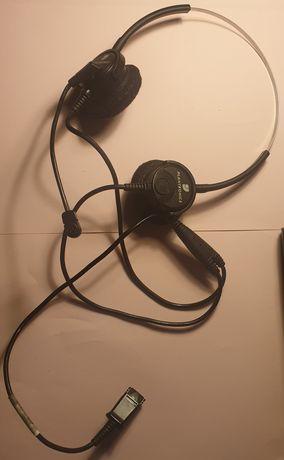 Headsets usados e adaptador