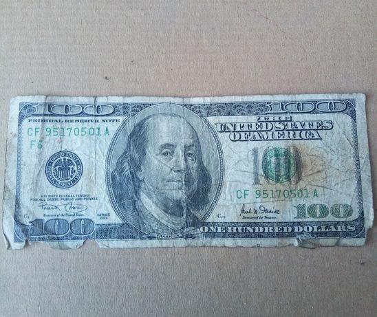 ветхая купюра 100$ обмен на гривны