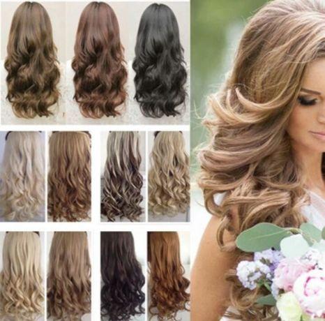 Волнистые волосы накладные волосы на заколках трессы наборы волос пряд