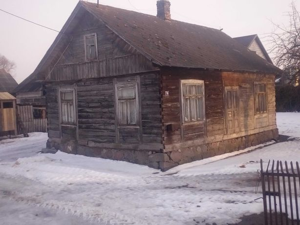Dom drewniany stare drewno rozbiórka..