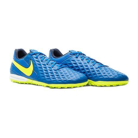 Бампы Nike Tiempo Оригинал синие-салатовые  футзалки, сороконожки,кеды