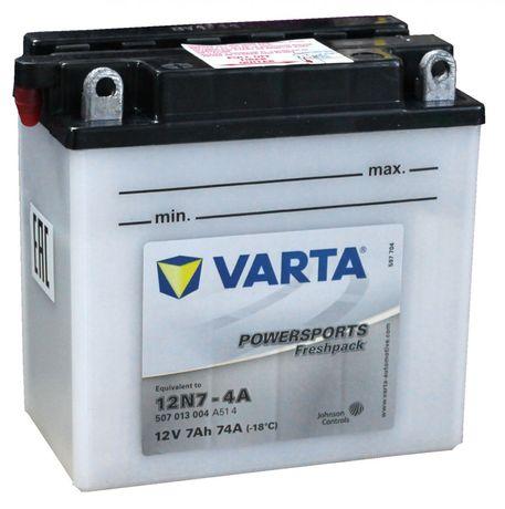 Akumulator motocyklowy Varta 12N7-4A 12V 7Ah 74A