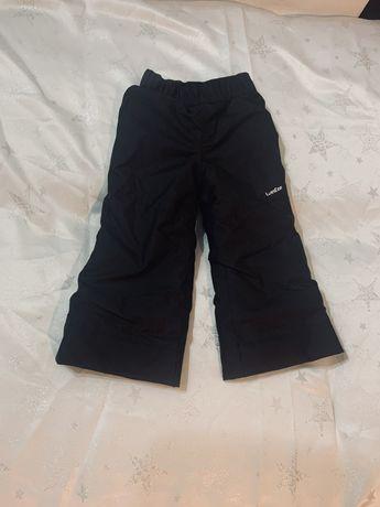 Spodnie narciarskie dziecięce czarne nowe 4 lata 98-104