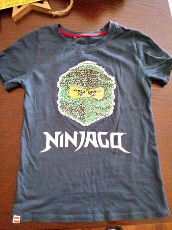 T-shirt lego ninjago z cekinami 128/134