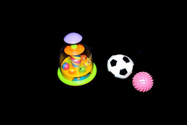 Яркая юла с шариками Chicco vetch fisher игрушка для малышей 3+ 6+ 9+
