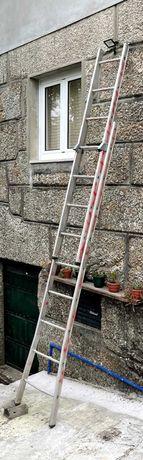 Escada alumínio com 9 + 7 degraus