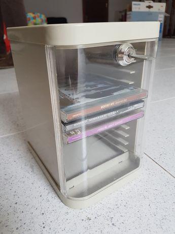 Caixa armazenamento CD com chave
