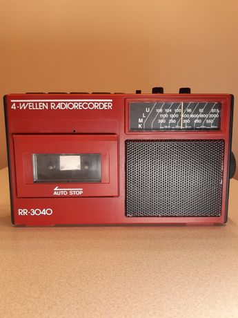 Radio,Magnetofon 4- Wellen Radiorecorder RR-3040 Sprawne Okres PRL