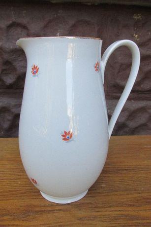 60 Wazon flakon dzbanek mlecznik biały pomarańczowe kwiaty WYSYŁKA