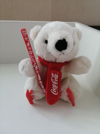 Новогодний Мишка мягкий Coca-Cola.