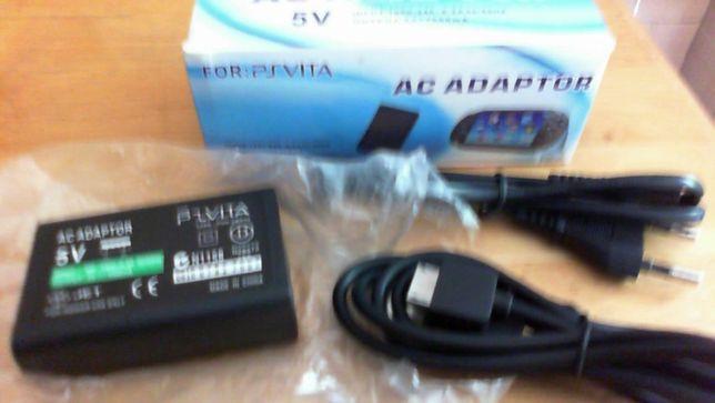 Carregador Sony psvita+cabo dados usb novo