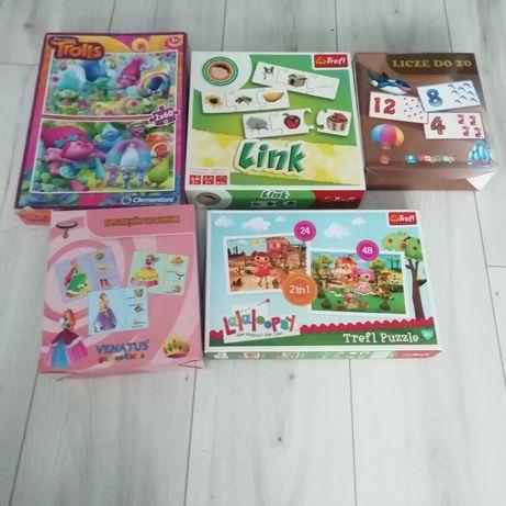 Zestaw gry i puzzle lalaloopsy  i inne