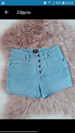 Spodnie damskie krótkie spodenki jeans jeansowe dżins dżinsowe M 38
