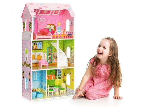 Domek dla lalek Rezydencja Miętowa plus rower Barbie