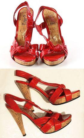 Босоножки JLo (от Джей Ло) оригинал алые красные каблук, 35 р США