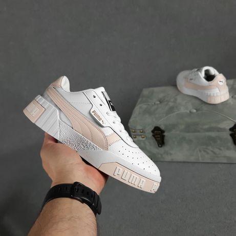 20367 Puma Cali Белые с пудрой пудровые кроссовки женские кеды пума