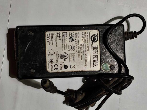 БП для ноутбуков мониторов HIGH POWER HPA-501242U3 5.5x2.5мм 12V 50Вт