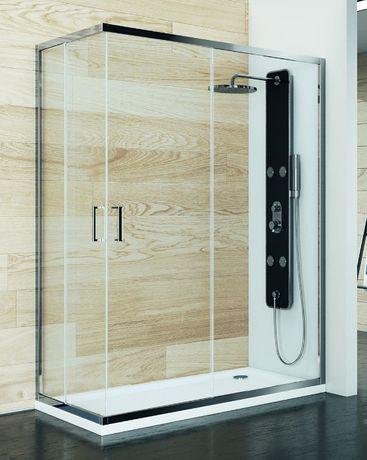 Cabine para Base Chuveiro em vidro rectangular