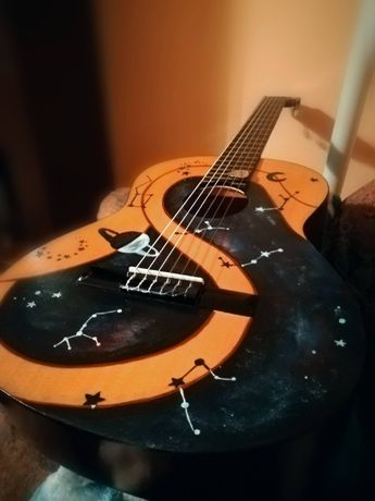 Gitara Ever Play Cordoba 4/4 kosmos fluorescencyjny wzór