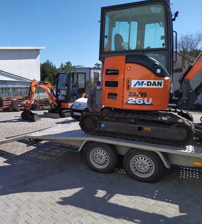 Minikoparki Bydgoszcz, prace ziemne, wynajem maszyn do prac ziemnych.