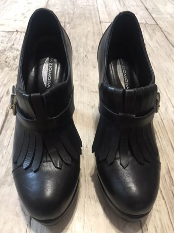 Spaziomoda Italy buty czarne skóra 37 Nowe