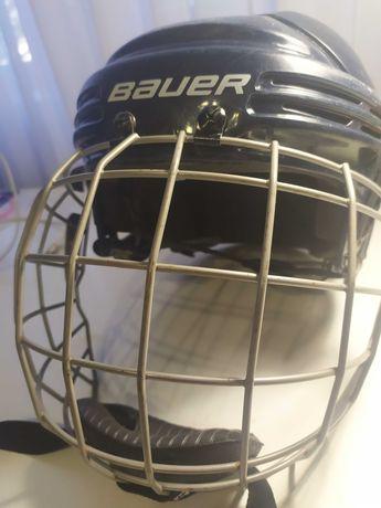 Детский хоккейный шлем, размер М, BAUER, цвет синий. Ввезён из США.