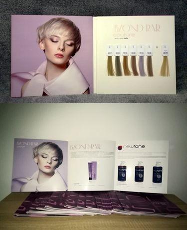 """Estel karta kolorów farb superrozjaśniających """"Blond Bar""""+ ulotki"""