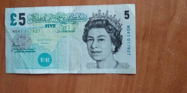 5 английских фунтов старого образца
