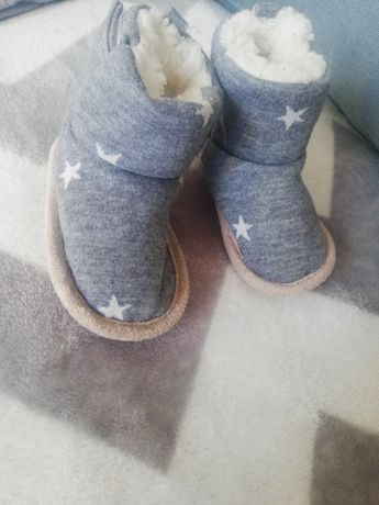 Niemowlę niechodki zimowe emu ocieplane nowe szare topomini