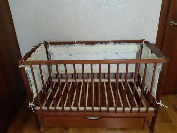"""Дитяче дерев'яне ліжечко  """"Дубок"""""""