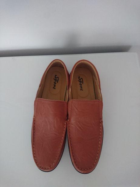 Buty półbuty mokasyny męskie skórzane rozmiar 43